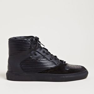 Balenciaga Black Panel High Top Sneakers